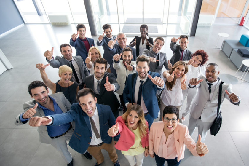 Portrait of smiling business people Lucky Business